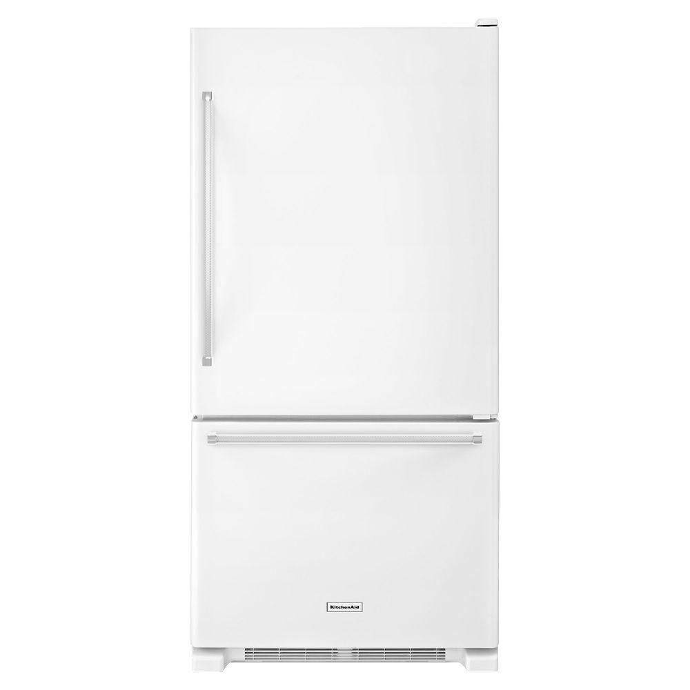 18.7 cu. ft. Full-Depth Refrigerator with Bottom Mount Freezer in White