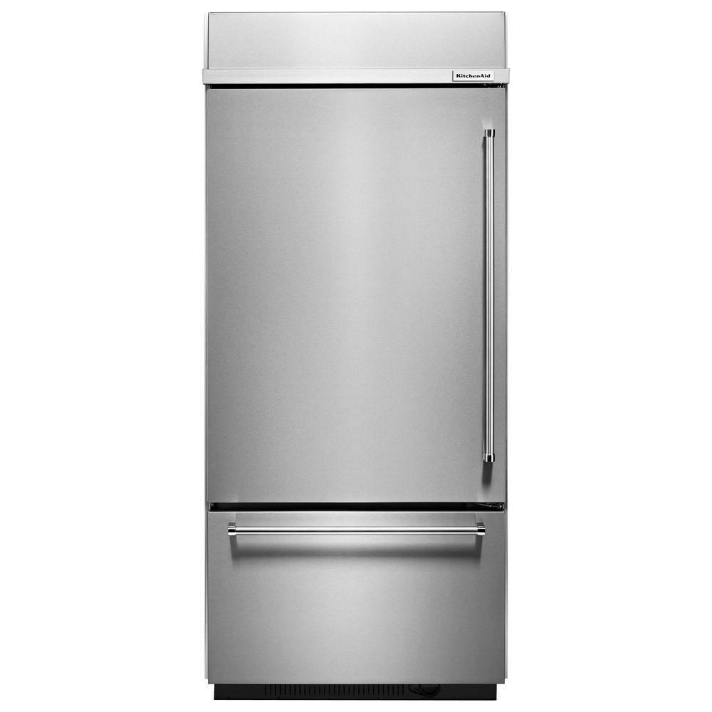 20.9 cu. ft. Built-In Refrigerator with Bottom Mounted Freezer in Stainless Steel
