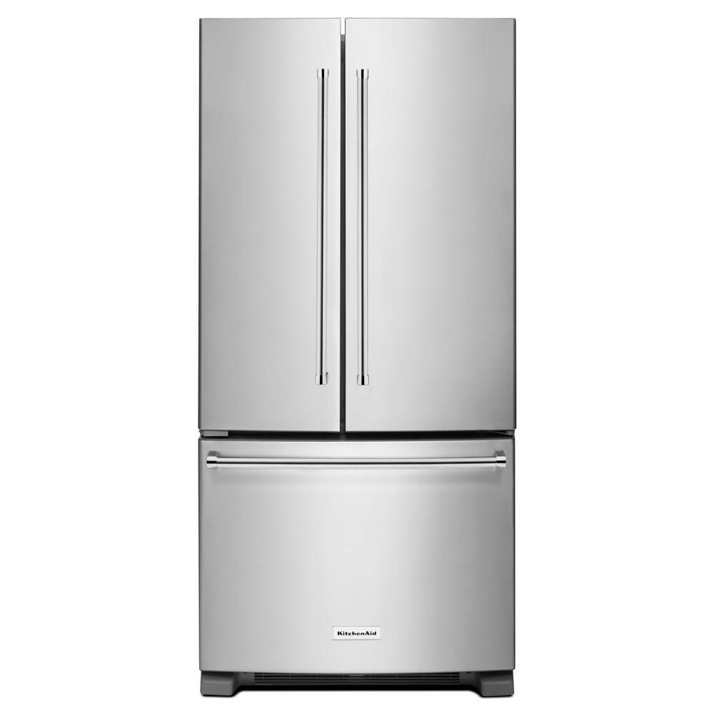 Réfrigérateur de 22 pi.cu. à portes françaises et profondeur standard de 33 po avec distributeur ...