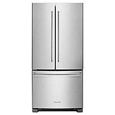 Réfrigérateur à porte française en acier inoxydable de 33 po W 22 pi3 - ENERGY STAR