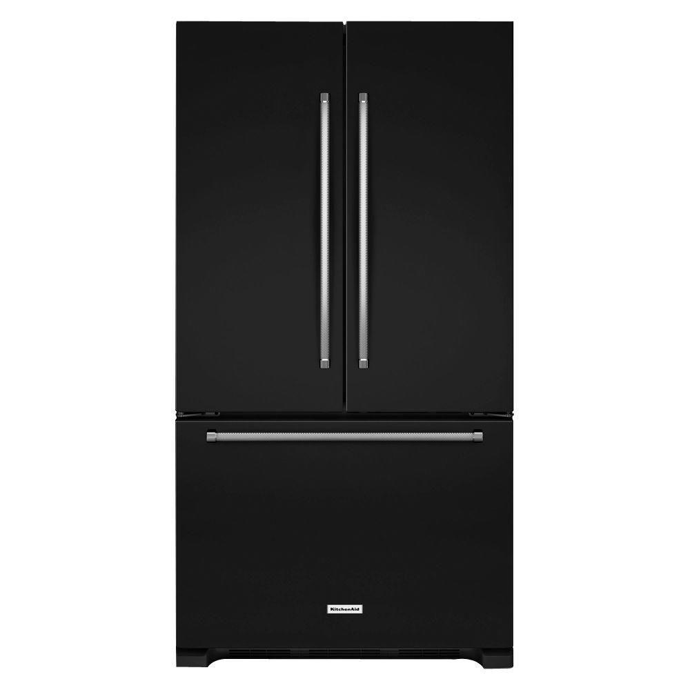 Kitchenaid Krff305ebs 25 2 Cu Ft French Door Refrigerator: Kitchenaid 25.2 Cu. Ft. Standard Depth French Door