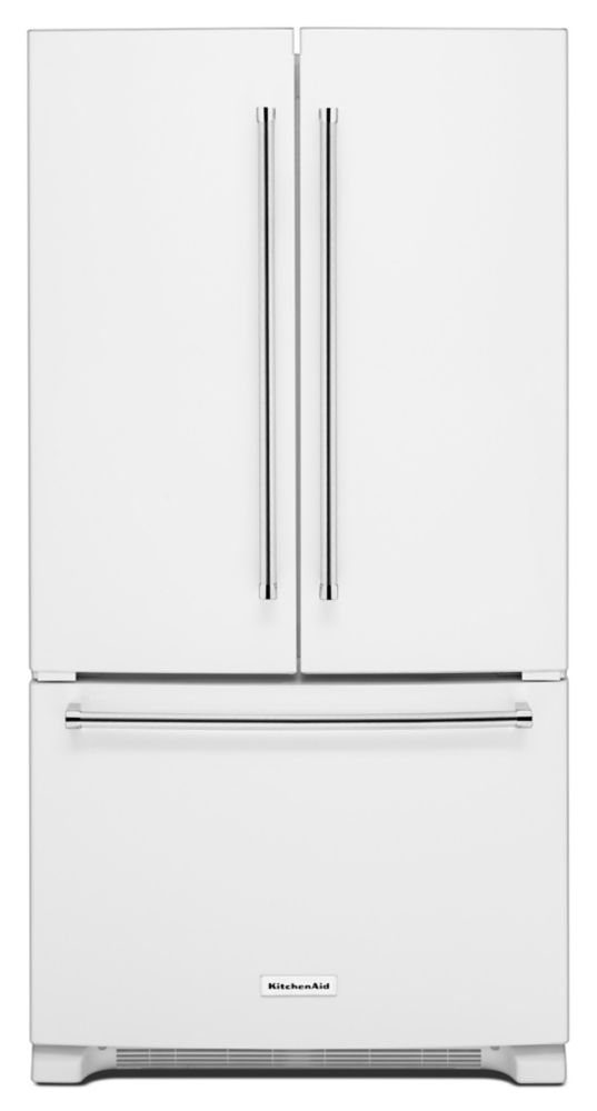 25.2 cu. ft. Standard-Depth French Door Refrigerator with Interior Dispenser in White