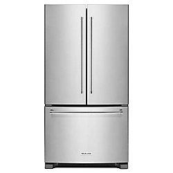 Réfrigérateur encastré à deux battants avec distributeur interne, 36po, 20pi3, acier inoxydable - ENERGY STAR®