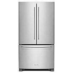 35-inch W 20 cu.ft. French Door Refrigerator in Stainless Steel, Counter-Depth, ENERGY STAR