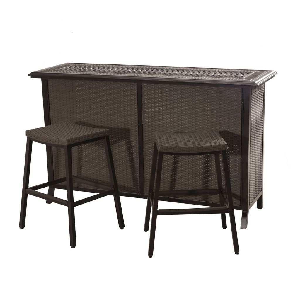 Semolina 3-Piece Outdoor Bar Set