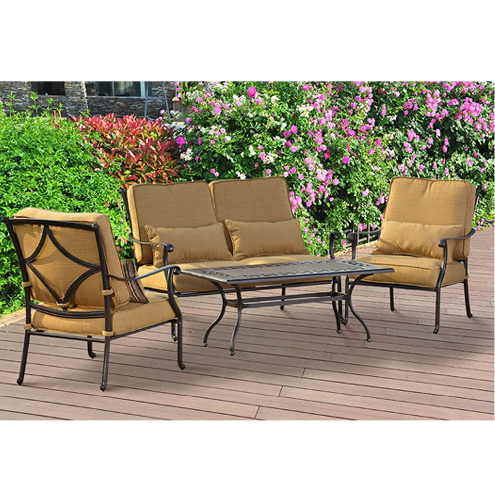 Montreal 4-Piece Patio Chat Set
