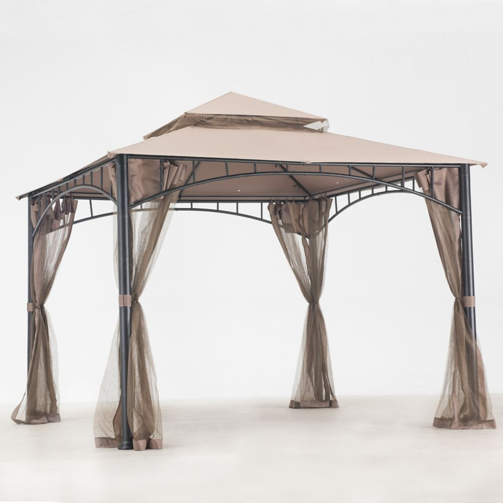 Marla 10 ft. x 10 ft. Gazebo with Vented Canopy