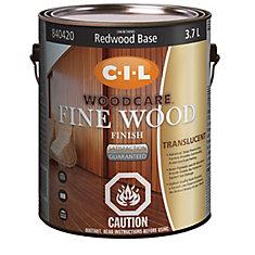 Woodcare Fine Wood Finish Tran Redwood Base 3.70L-840420