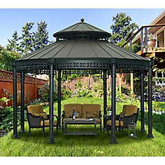 Ontario 14 ft. Dia Round Gazebo with Vented Canopy in Copper
