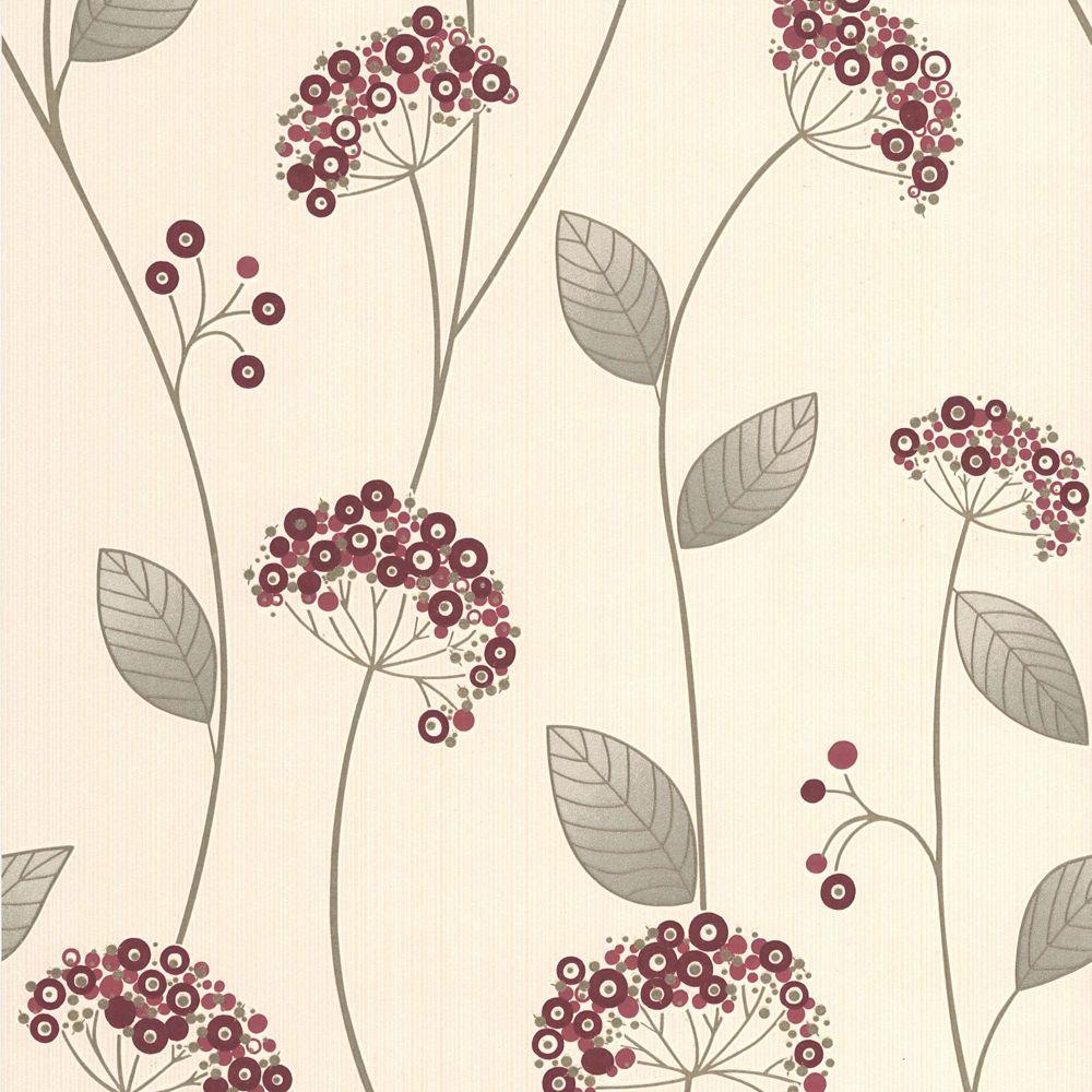 Claire Papier Peint Rouge