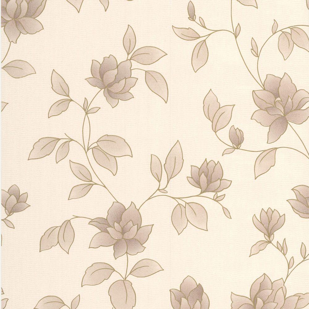 Amy Gold/Cream/Brown Wallpaper