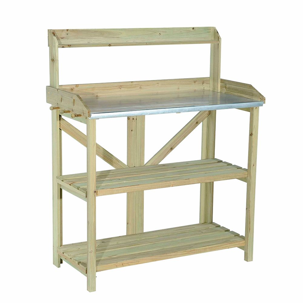 Sunjoy Pratt Wooden Potting Bar