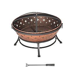 Sunjoy Ambrose 35-inch Steel Fire Pit