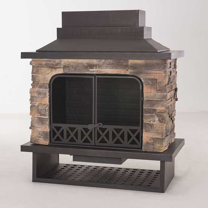 Sunjoy Huntsville Outdoor Fireplace The Home Depot Canada