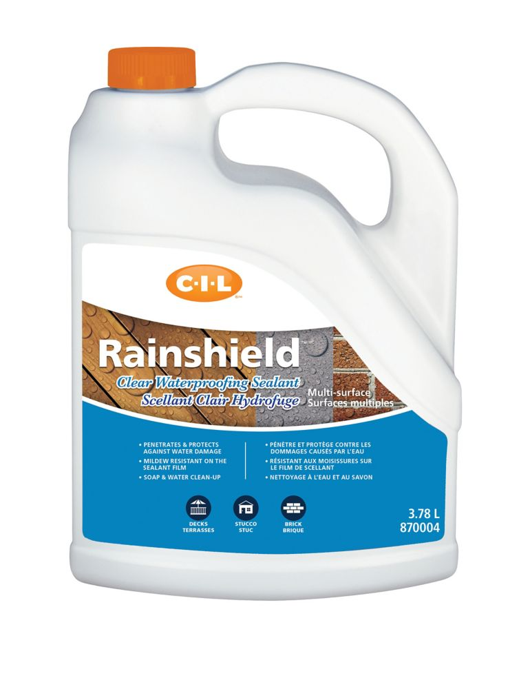 CIL Rainshield Waterproofing Clear Sealant Multi-Surface, 3.78 L