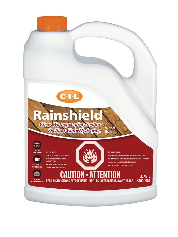 CIL Rainshield Waterproofing Clear Sealant Wood, 3.78 L