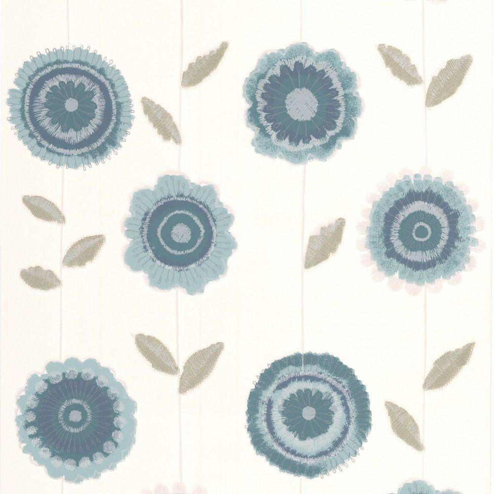 Radiance Teal Wallpaper/Green/White