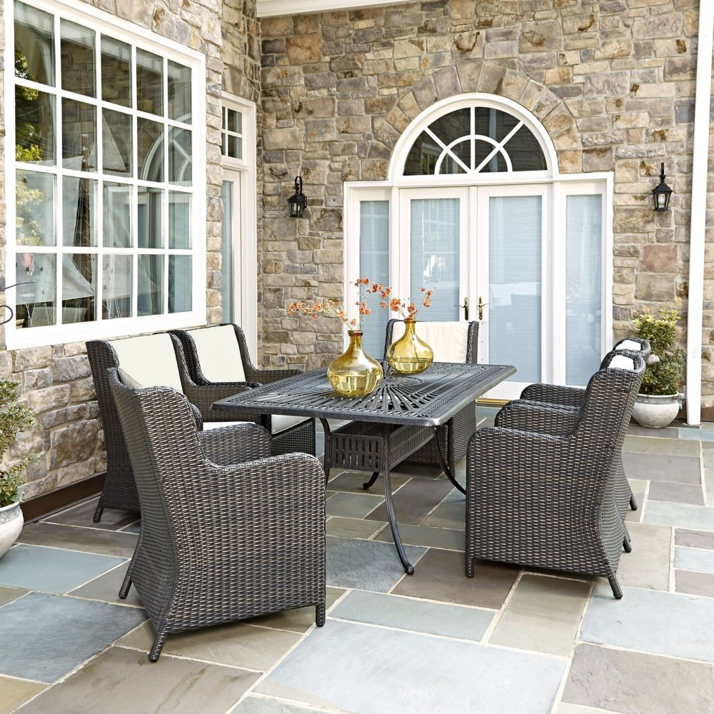 Home Styles Largo 7-Piece Patio Dining Set with Riviera Chairs