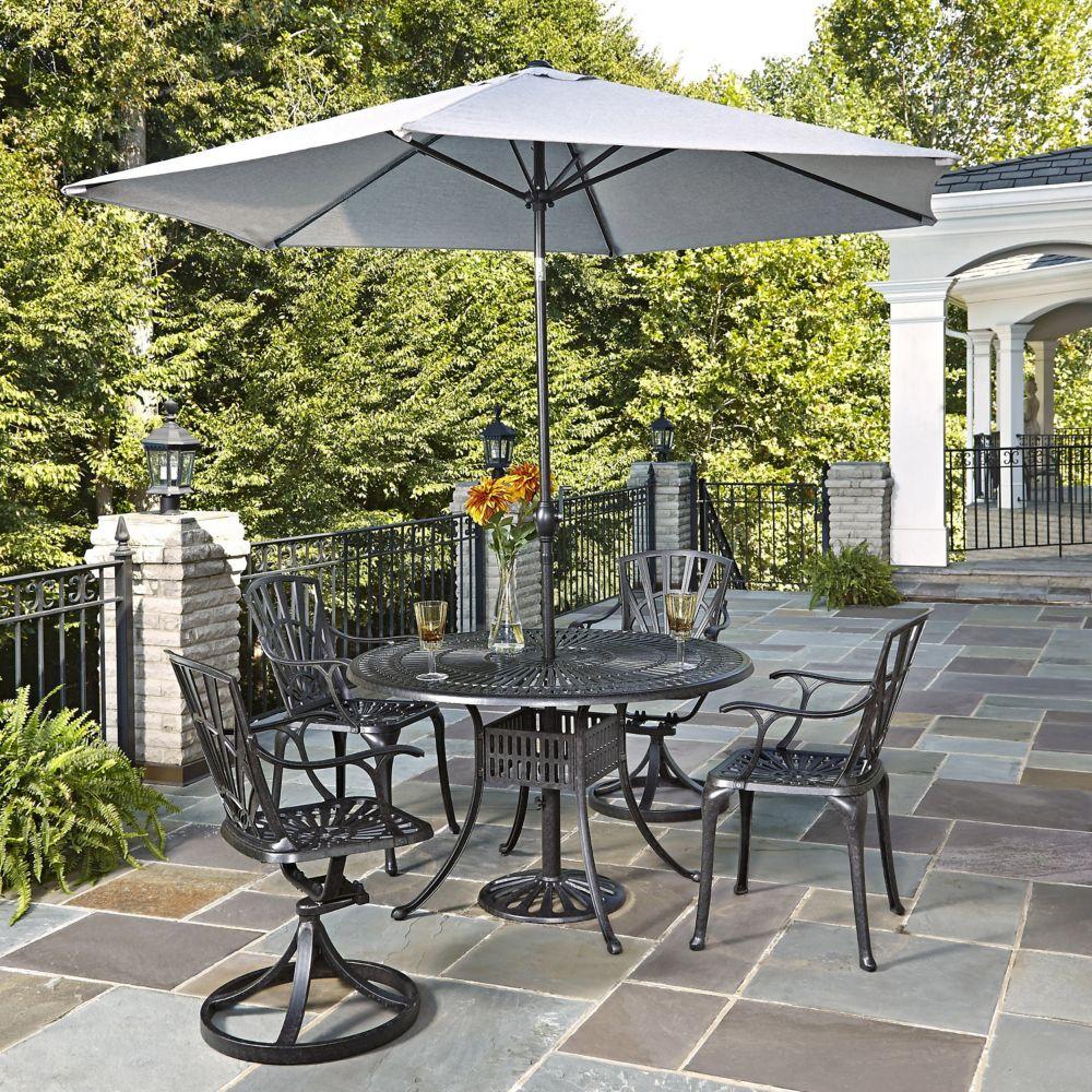 Largo 5-Piece Patio Dining Set with Umbrella