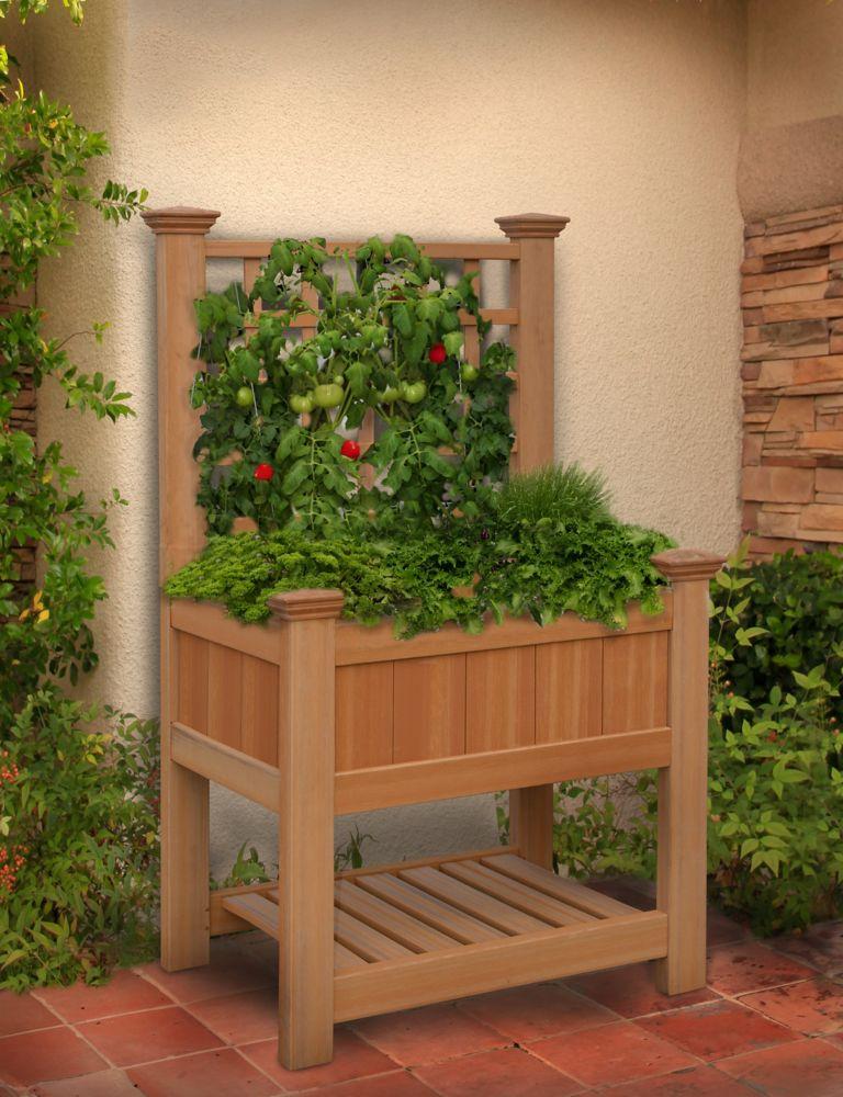 Bloomsbury Composite Raised Garden Bed with Trellis
