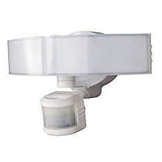 Defiant 270-Degree White Motion Activated Outdoor Integrated LED Security Light with Bluetooth