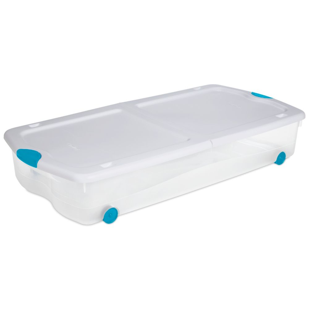 63 Litre Wheeled Latch Box - White