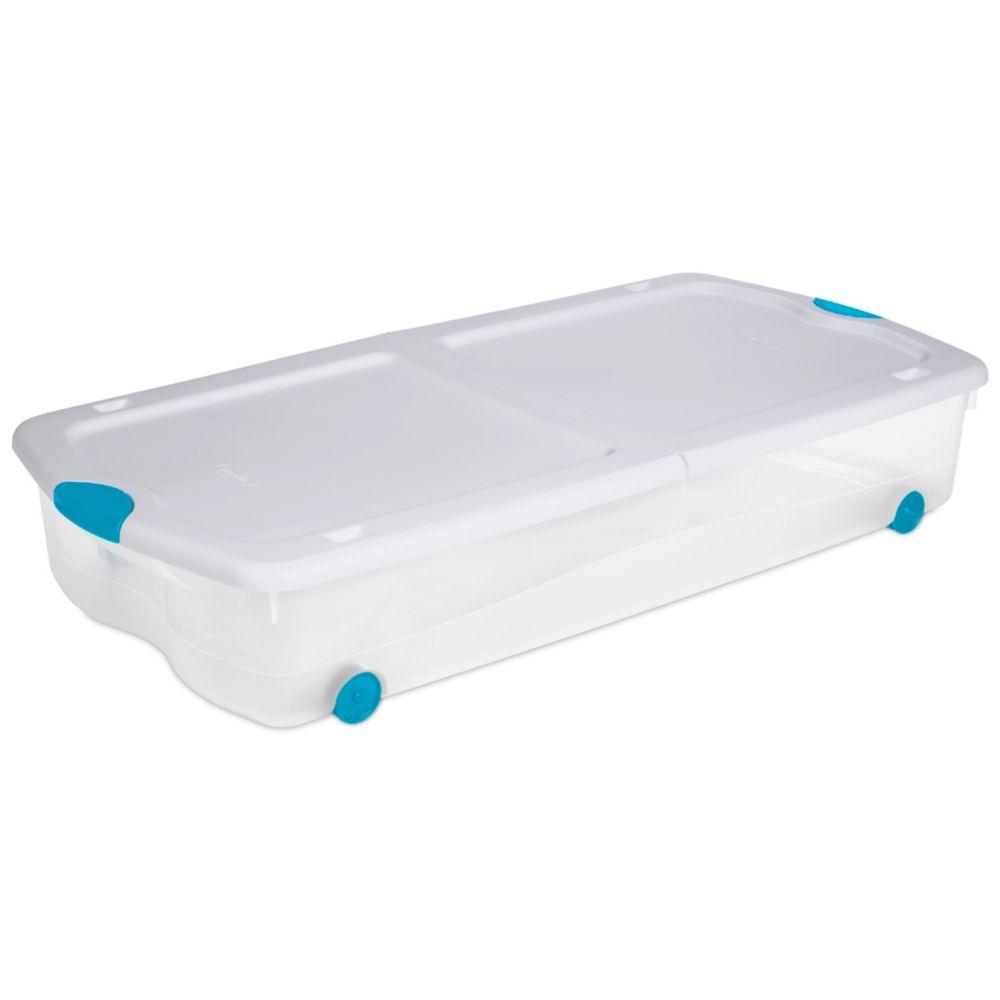 63 Litre Wheeled Latch Box - White