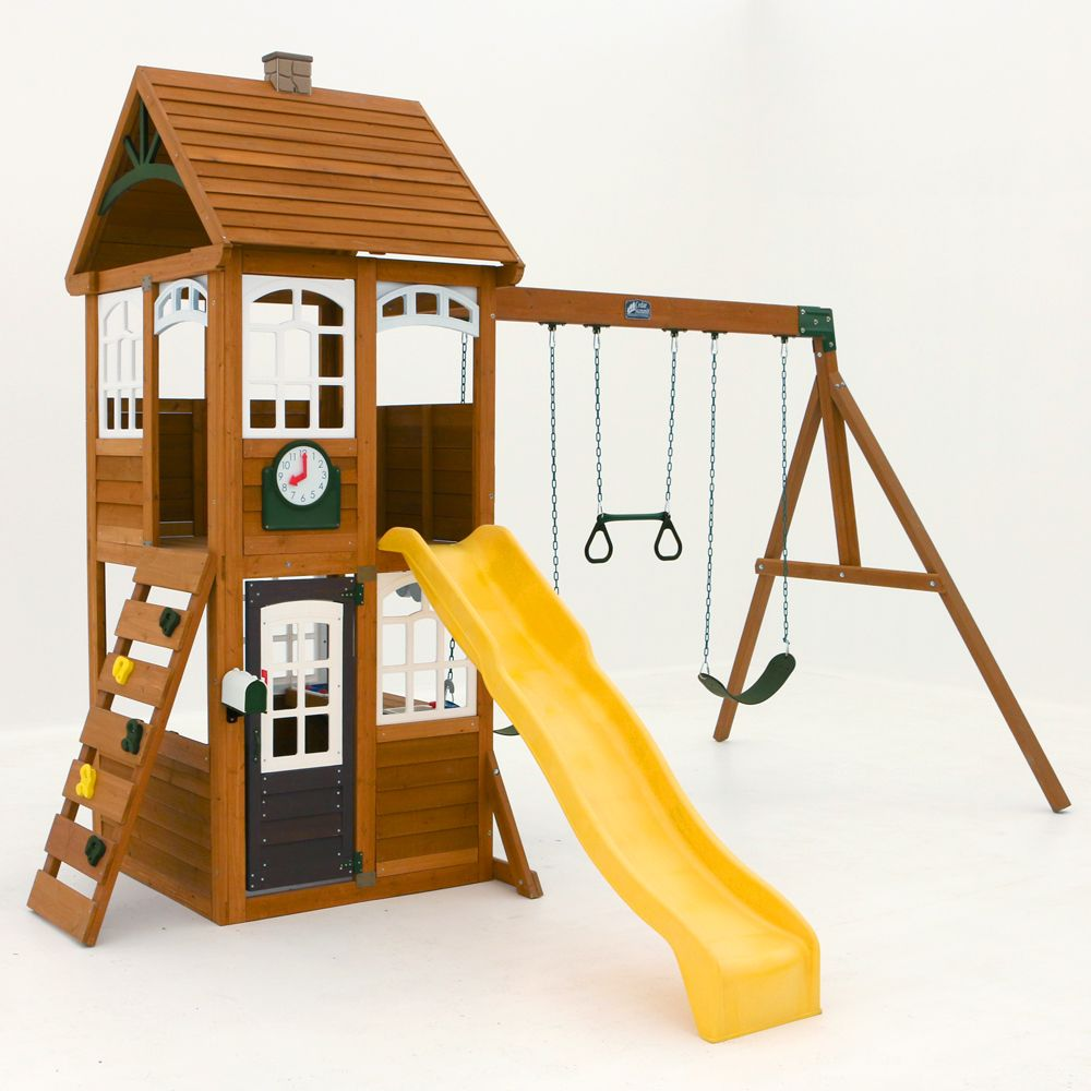 Cedar Summit Mckinley Wooden Playset The Home Depot Canada