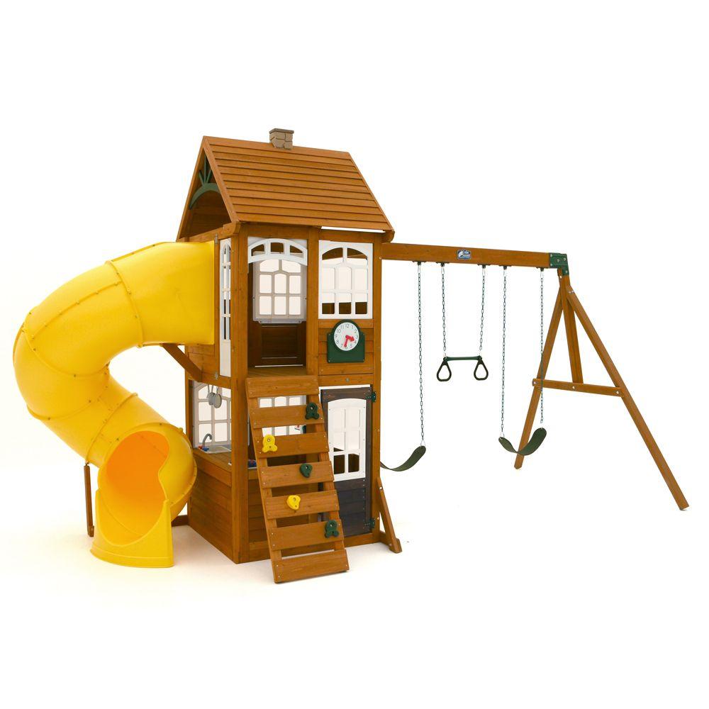 Creston Lodge Wooden Playset