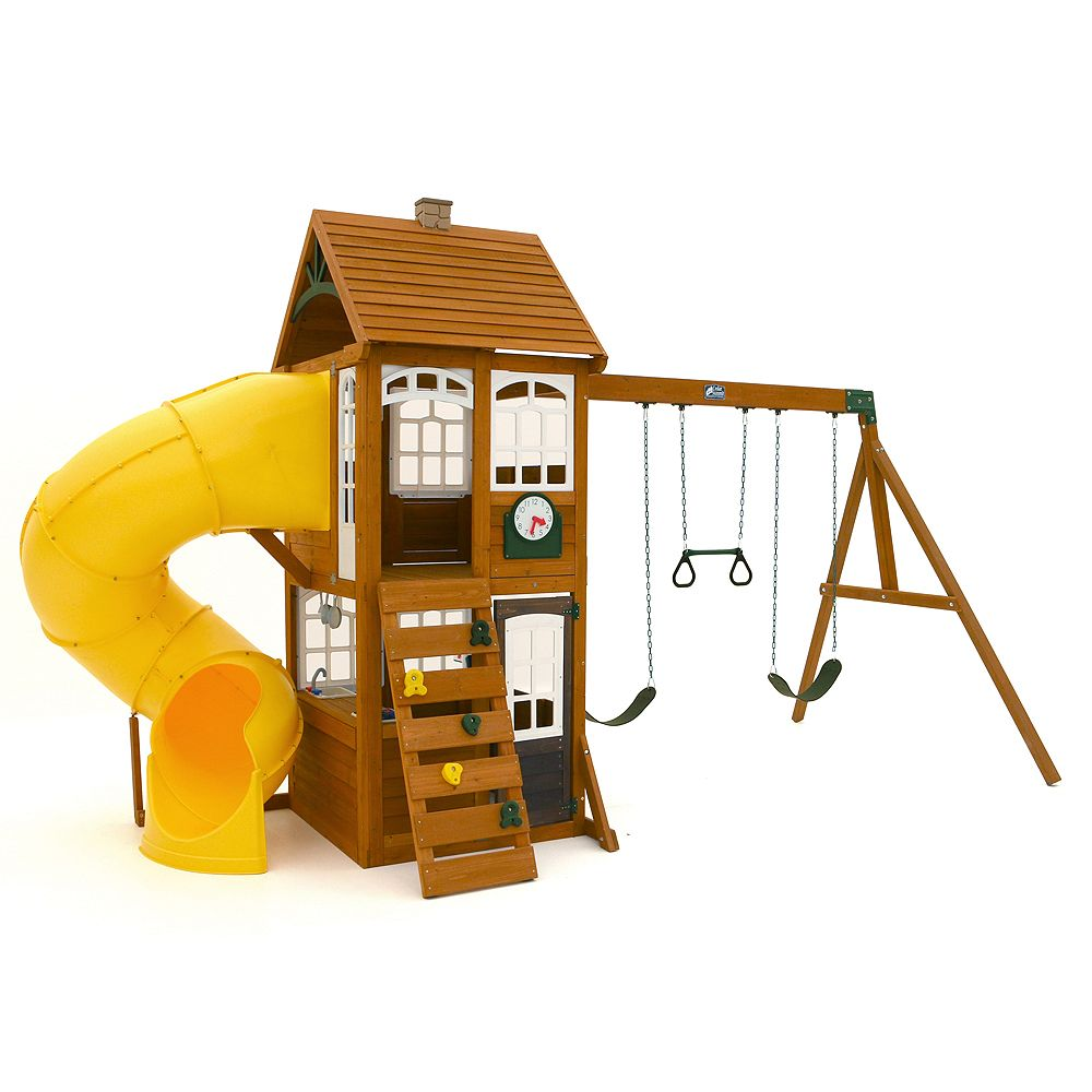 Cedar Summit Creston Lodge Wooden Playset