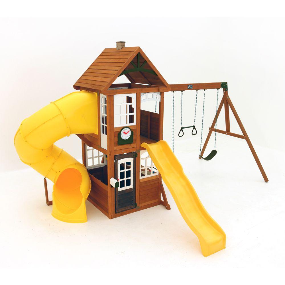 Centre de jeu en bois / balançoire Creston Lodge