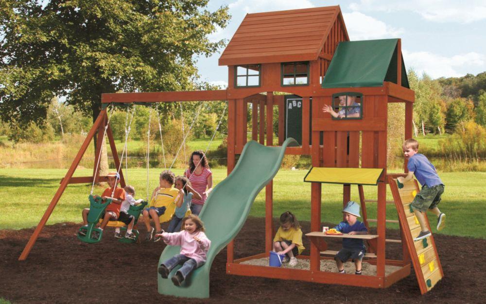 Big backyard kingswood playset the home depot canada for Module de jeu exterieur