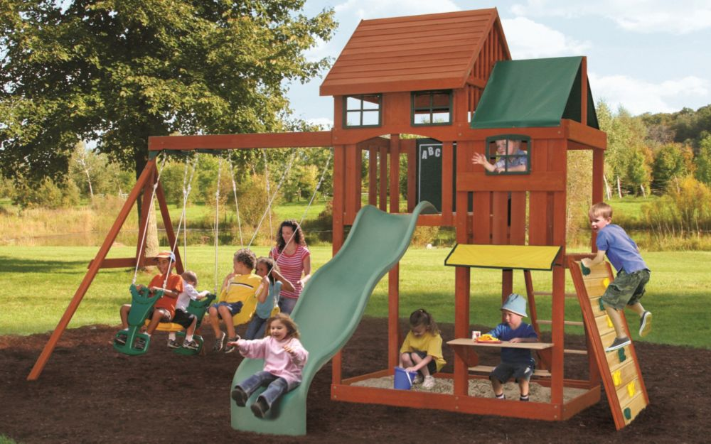 big backyard kingswood playset the home depot canada