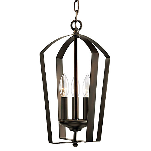 Gather collection 4 light antique bronze foyer pendant
