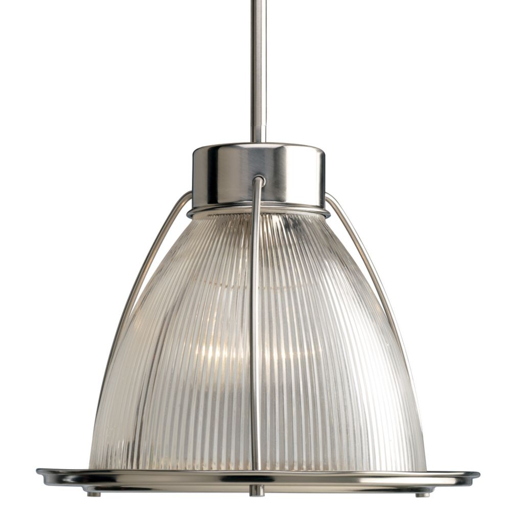 Prismatic Glass Collection 1-light Brushed Nickel Foyer Pendant