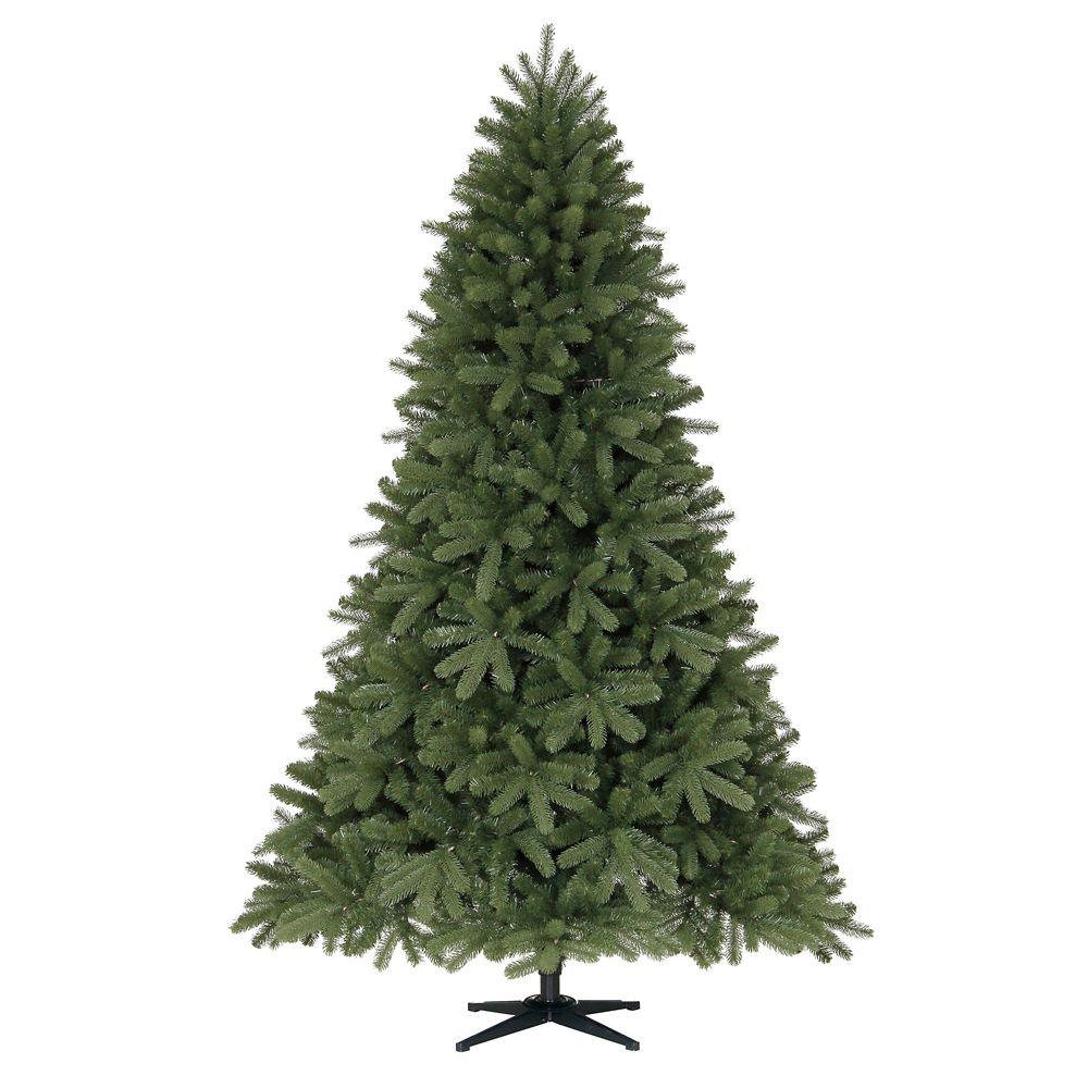 Arbre de Noël sans lumières et pointant vers le bas, 2,2 m (7,5 pi)