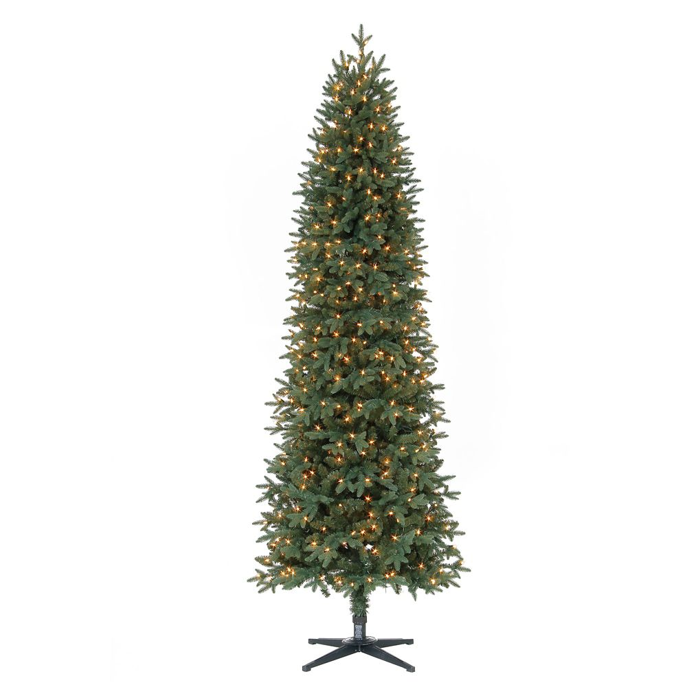 7 5 ft pre lit shelton pencil christmas tree. Black Bedroom Furniture Sets. Home Design Ideas