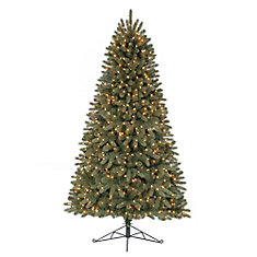 7 ft Pre-Lit Hayden Half Christmas Tree