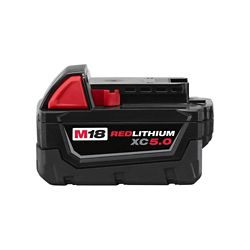 Milwaukee Tool M18 18V Lithium-Ion Extended Capacity (XC) 5.0 Ah REDLITHIUM Battery Pack