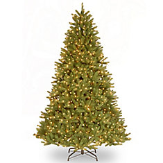 9 ft Grande Fir Christmas Tree with Clear Lights