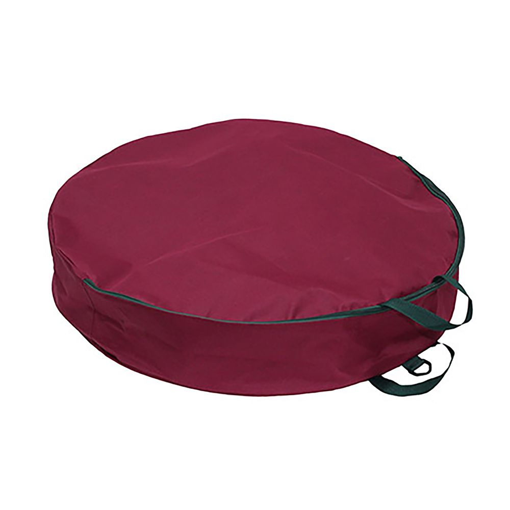 30 IN Wreath Storage Bag - Burgundy
