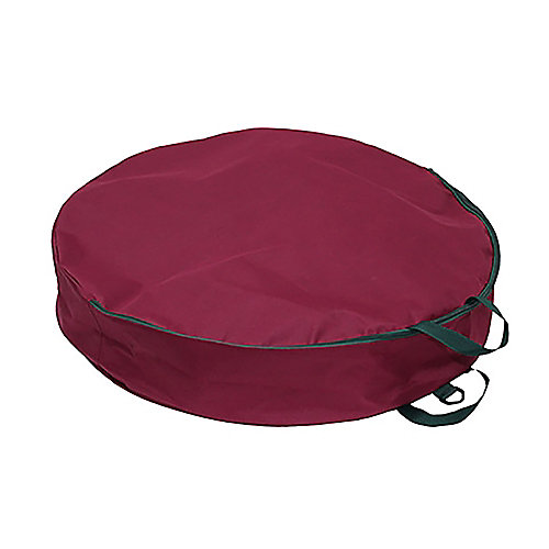 30-inch Storage Bag for Wreaths in Burgundy