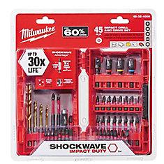 Milwaukee 45pc Shockwave Kit
