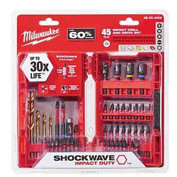 Milwaukee Tool Milwaukee 45pc Shockwave Kit
