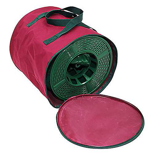 Large Storage Reels for Garlands and String Light Sets (4-Pack) with Bag in Burgundy