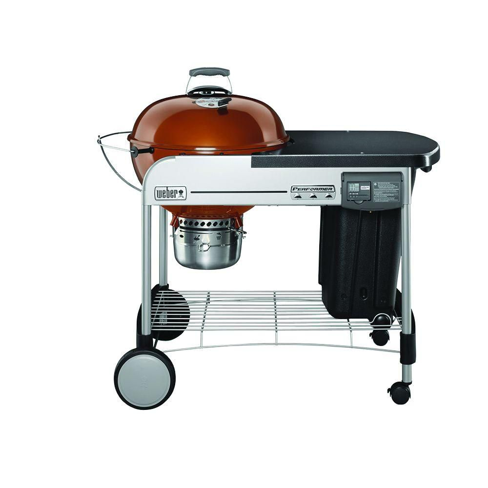22-inch Performer<sup>®</sup> Deluxe Charcoal BBQ in Copper