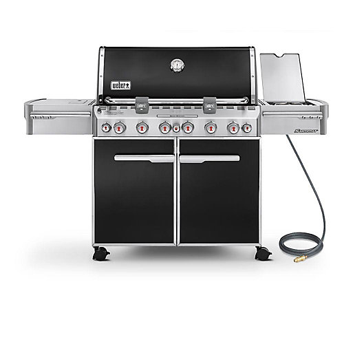 Summit E-670 6-Burner Natural Gas BBQ in Black