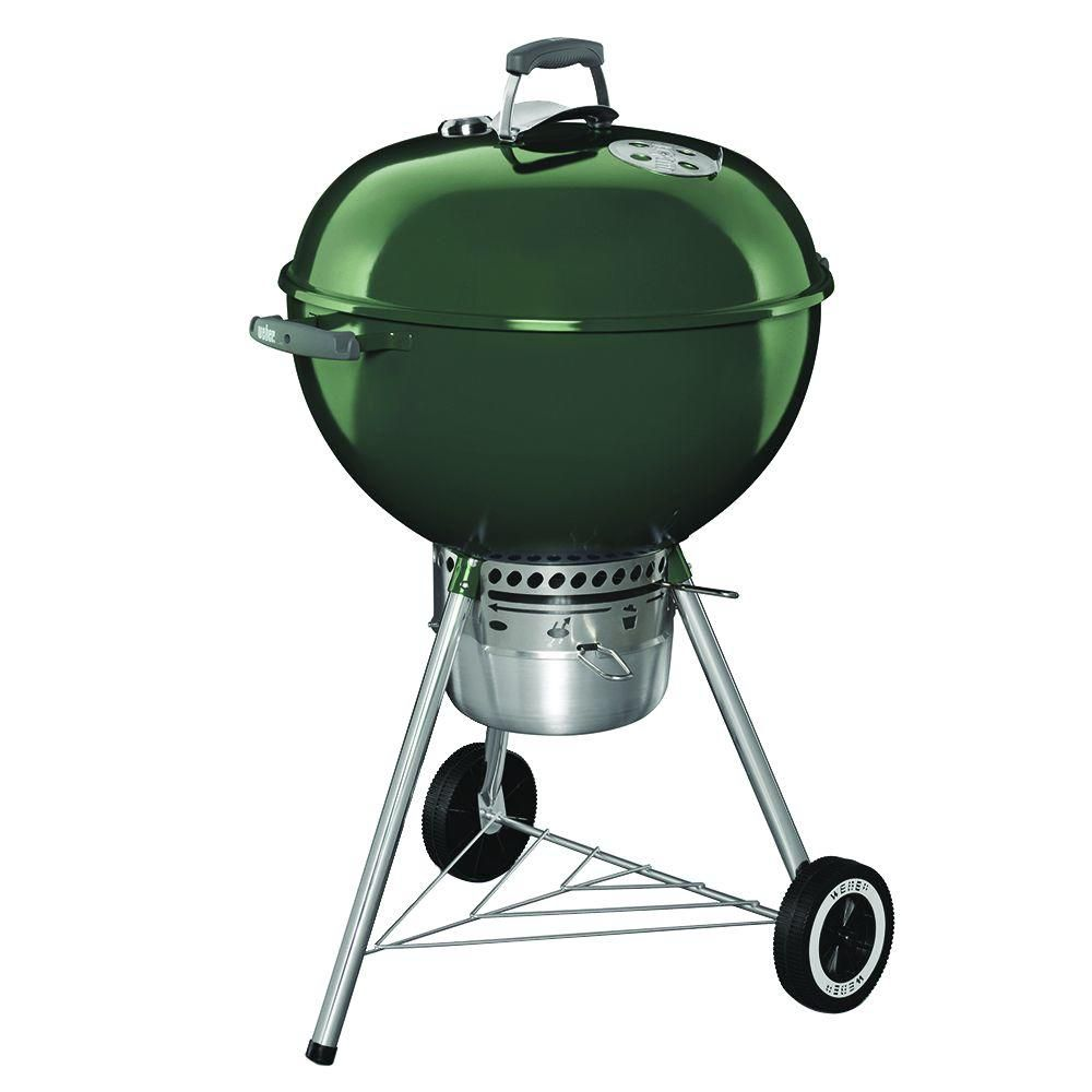 Weber Original Kettle Premium 22-inch Charcoal BBQ in Green