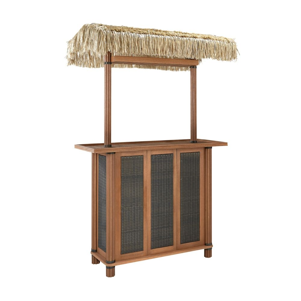 Home Styles Bali Hai Tiki Bar W Woven Panels The Home Depot Canada