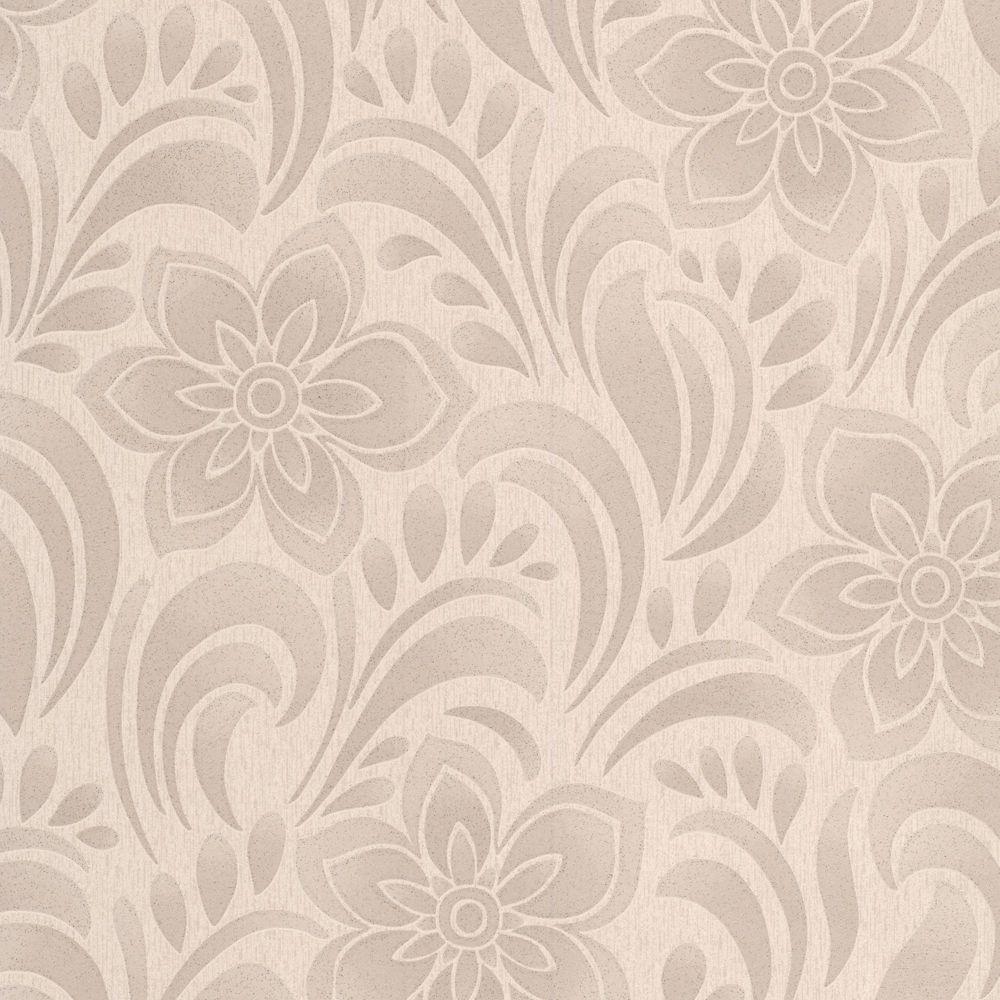 Jacquard Floral Beige/Gold Wallpaper